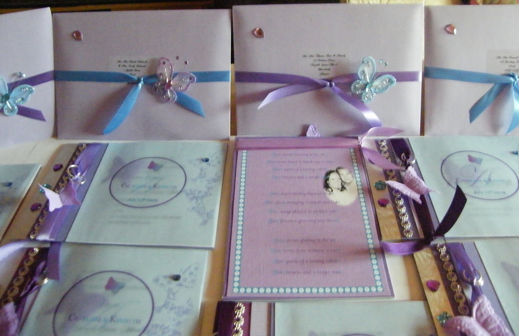 My wedding Invitations day guests for Charlene & Kenny