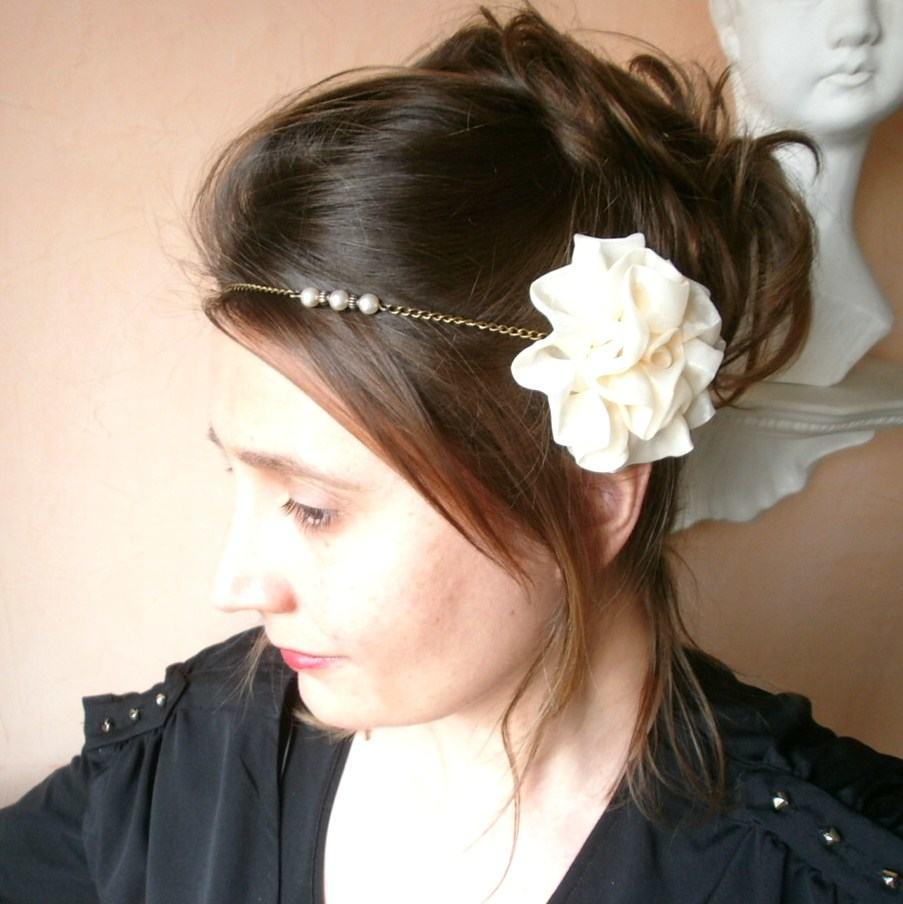 DIY headband mariage