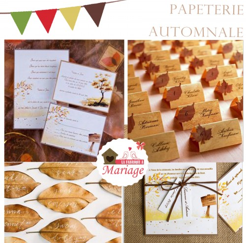 papeterie mariage automne