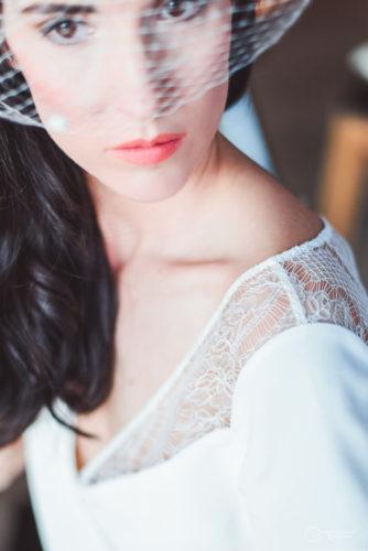 JUPE et TOP voilette LES MARIEES FOX-mariage civil - la fabrique à mariage