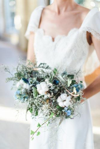 robe fleurs LES MARIEES FOX-mariage civil - la fabrique à mariage